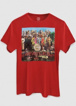 Camiseta Unissex The Beatles Capa Sgt. Peppers 2