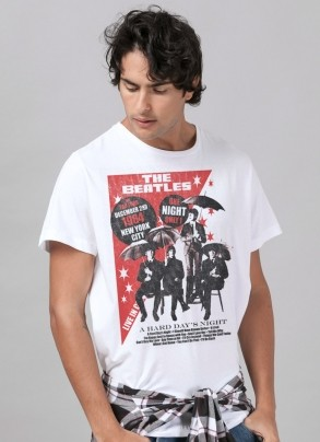 Camiseta Unissex The Beatles The Fab Four 1964