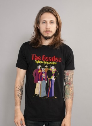 Camiseta Unissex The Beatles Yellow Submarine Basic