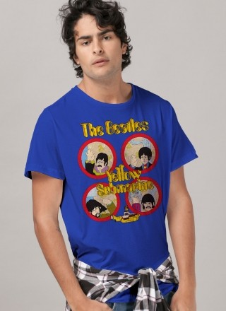 Camiseta Unissex The Beatles Yellow Submarine Original