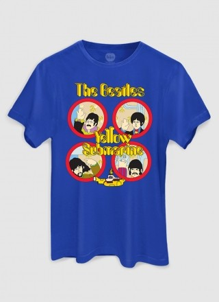 Camiseta Masculina The Beatles Yellow Submarine Original