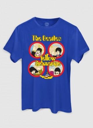 Camiseta Unissex The Beatles Yellow Submarine Original