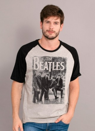 Camiseta Raglan Premium Masculina The Beatles Hey What´s That