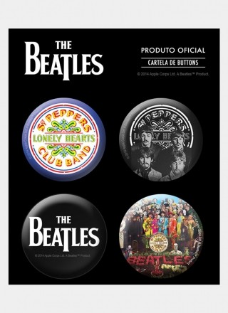 Cartela de Buttons The Beatles Sgt. Peppers