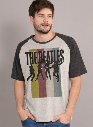 Camiseta Raglan Premium Masculina The Beatles Jump