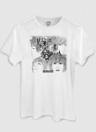 Camiseta Masculina The Beatles Revolver