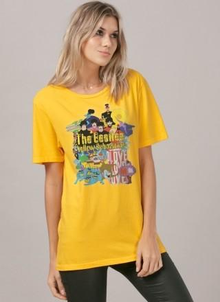 T-Shirt Feminina The Beatles Yellow Submarine
