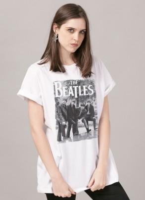 T-Shirt Feminina The Beatles Hey What´s That