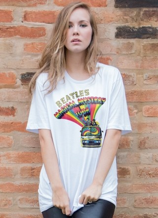 T-Shirt Feminina The Beatles Bus Basic