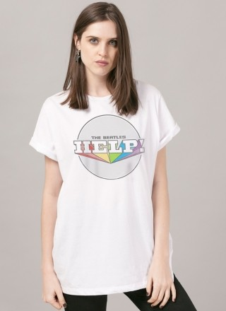 T-Shirt Feminina The Beatles Help! 2