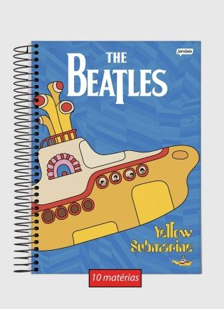 Caderno The Beatles Sea Submarine 10 Matérias