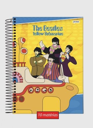 Caderno 10 Matérias The Beatles Yellow