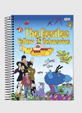 Caderno The Beatles Yellow Submarine 1 Matéria