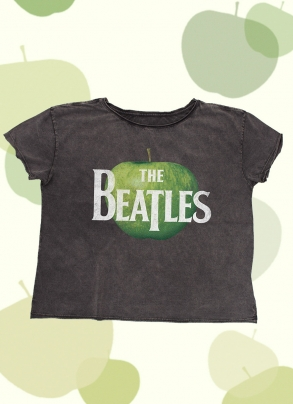 Camiseta Feminina Ampla The Beatles Logo Apple