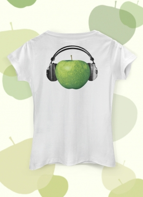Camiseta Feminina The Beatles On Apple