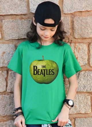 Camiseta Infantil The Beatles Apple Records