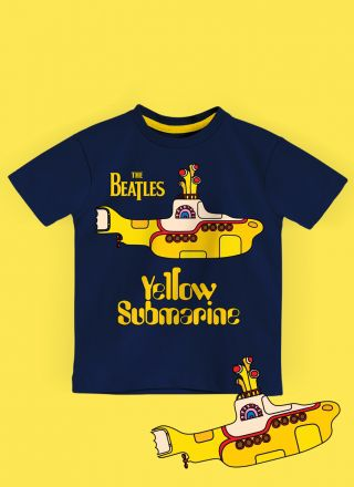 Camiseta Infantil The Beatles Yellow Submarine