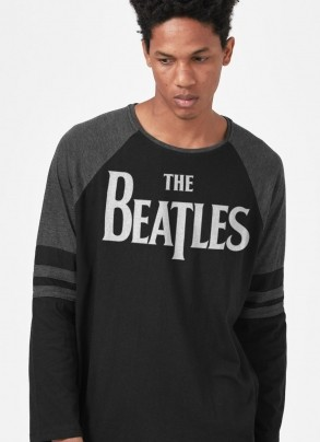Camiseta Manga Longa The Beatles Logo