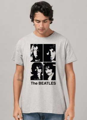 Camiseta Masculina The Beatles Portraits Face