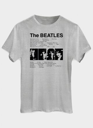 8329c8c562 Camiseta Masculina The Beatles Song List