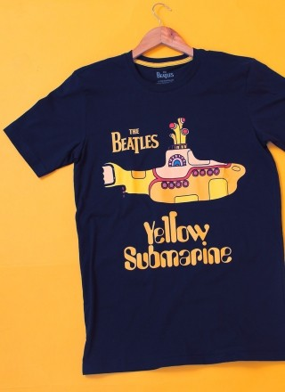 Camiseta Masculina The Beatles Yellow Submarine