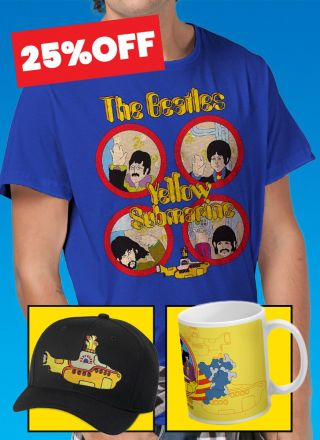 Combo The Beatles Especial Yellow Submarine