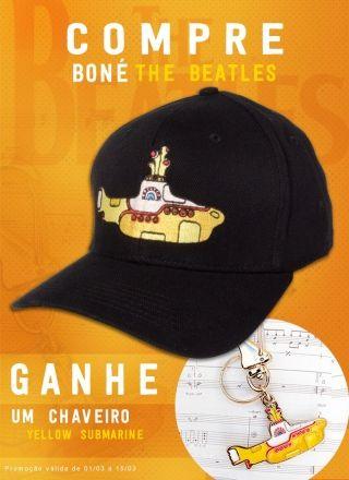 Kit Boné + Chaveiro The Beatles Yellow Submarine