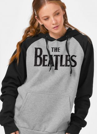 Moletom Raglan Feminino The Beatles Logo