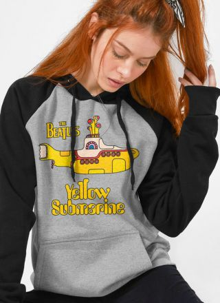 Moletom Raglan Feminino The Beatles Yellow Submarine