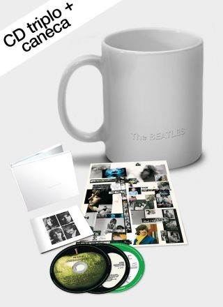 Combo The Beatles White Album CD Triplo + Caneca