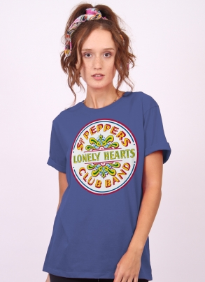 T-Shirt Feminina The Beatles - Sgt Peppers Club Band And The Lonely Hearts