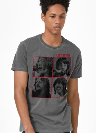 T-shirt Premium Masculina The Beatles Let It Be