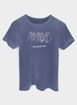 T-shirt Premium Masculina The Beatles Trace