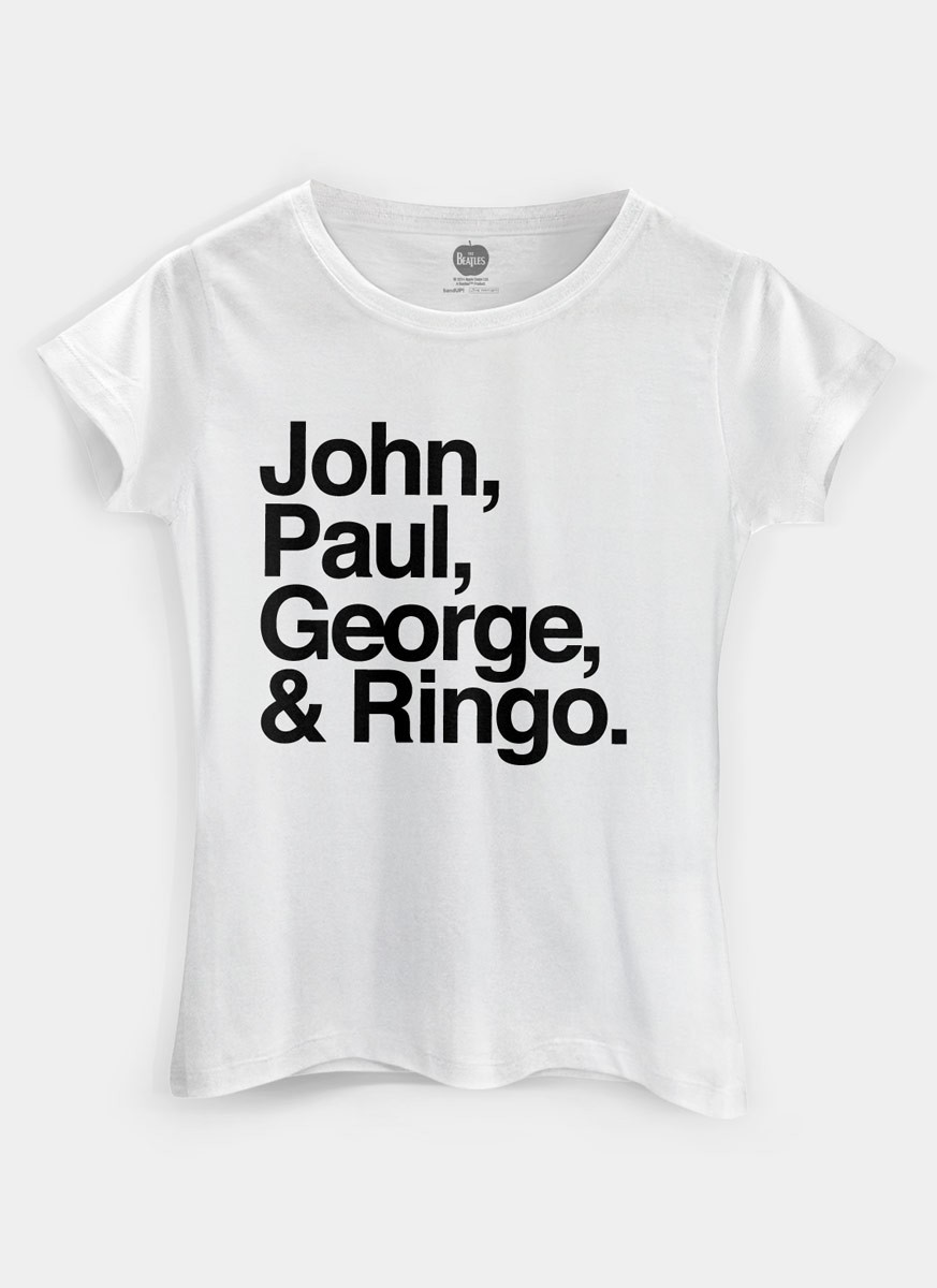 4cd895d9300 ... Camiseta Feminina The Beatles Names - The Beatles Shop