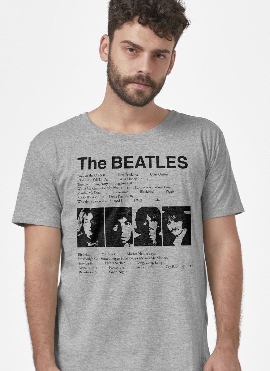 Camiseta Masculina The Beatles Song List