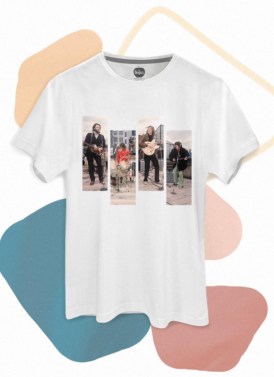 Camiseta Unissex The Beatles Let It Be Quadros