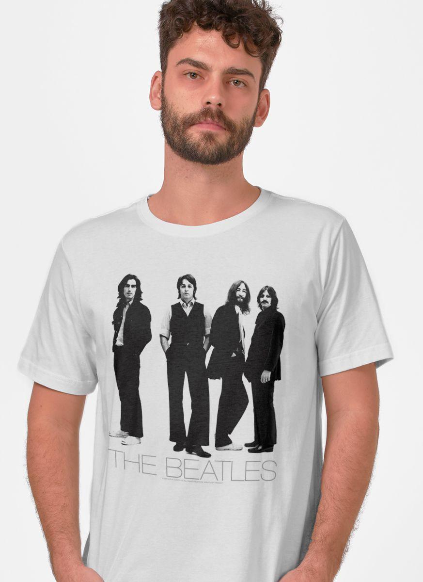 Camiseta Unissex The Beatles White Album Basic
