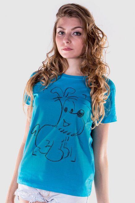 Camiseta Feminina Mauricio de Sousa 80 Anos Bidu