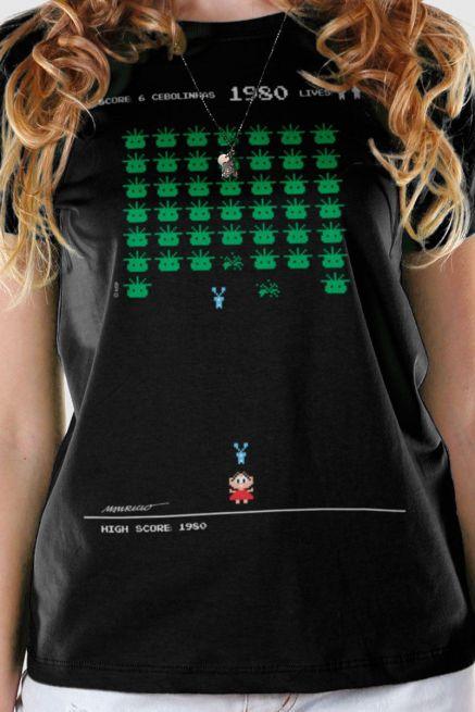 Camiseta Feminina Turma da Mônica 50 Anos Modelo 7 Anos 80