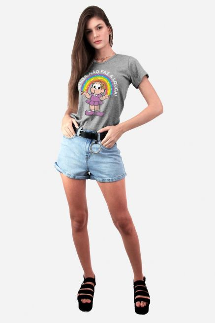 Camiseta Feminina Turma da Mônica Denise Amiga, Não faz a Louca!