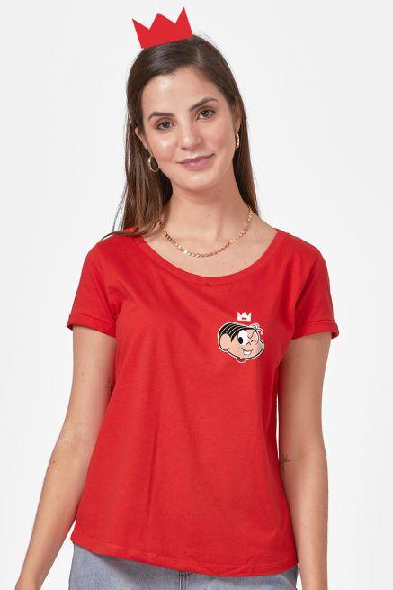 Camiseta Feminina Turma da Mônica Dona da Rua Mônica