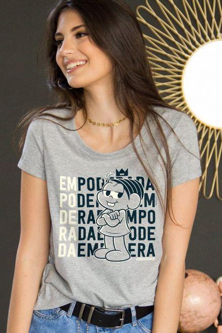 Camiseta Feminina Turma da Mônica Empoderada
