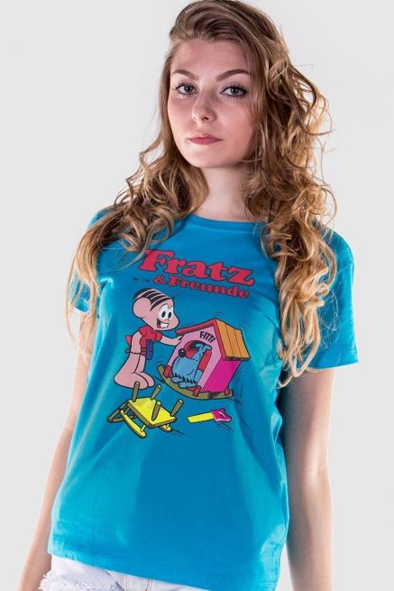 Camiseta Feminina Turma da Mônica Fratz & Freunde