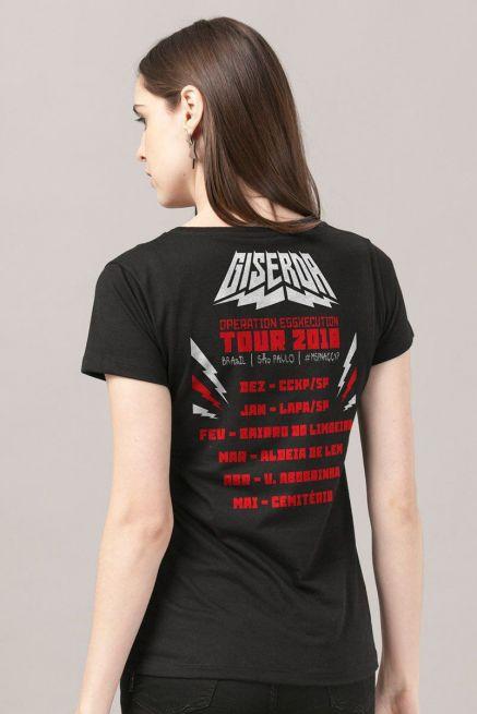 Camiseta Feminina Turma da Mônica Giserda Rock