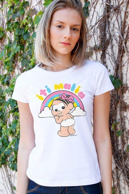 Camiseta Feminina Turma da Mônica Iti Malia