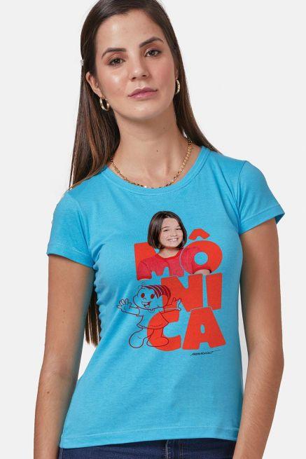 Camiseta Feminina Turma da Mônica Laços Mônica