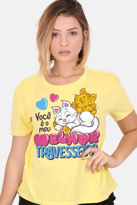 Camiseta Feminina Turma da Mônica Melhor Travesseiro