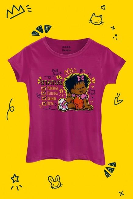 Camiseta Feminina Turma da Mônica Milena Status