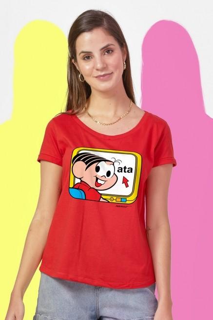 Camiseta Feminina Turma da Mônica Mônica Ata