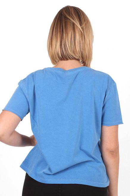 Camiseta Feminina Turma da Mônica Orelhinhas